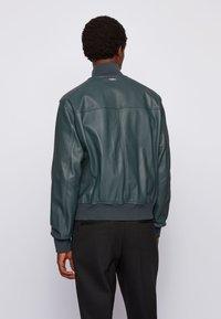 BOSS - NEOVEL - Leather jacket - light green - 2