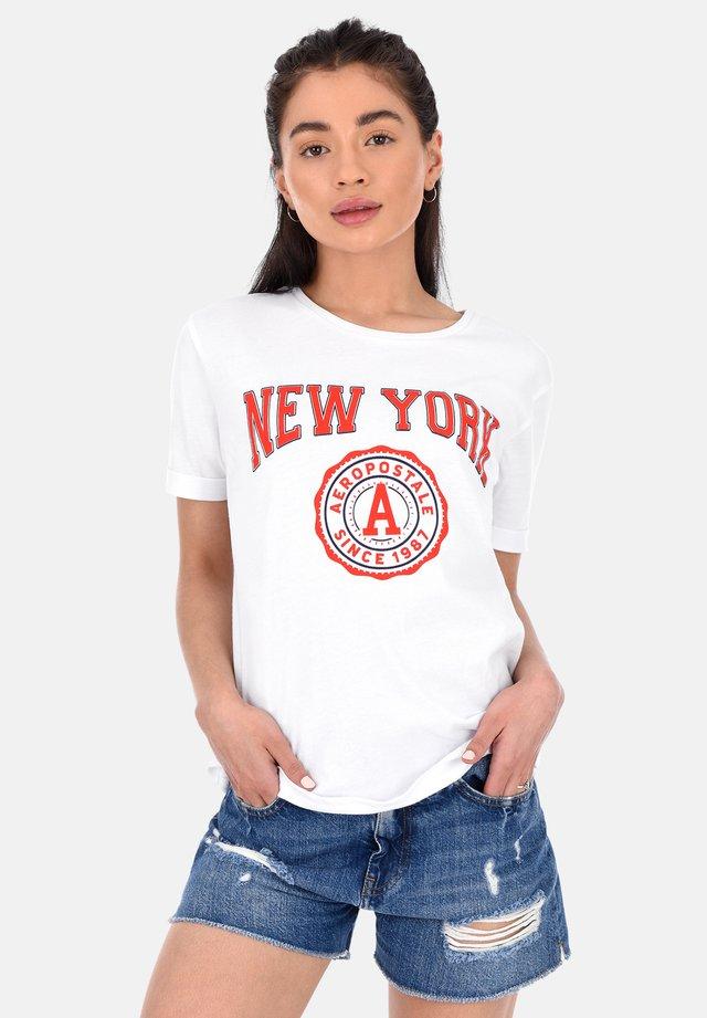 NEW YORK  - T-shirt con stampa - white
