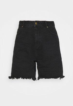 SHELBY - Denim shorts - washed black