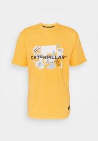 Caterpillar - POWER TEE - T-shirt med print - yellow - 4