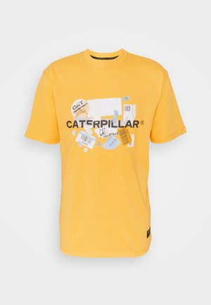 POWER TEE - Print T-shirt - yellow