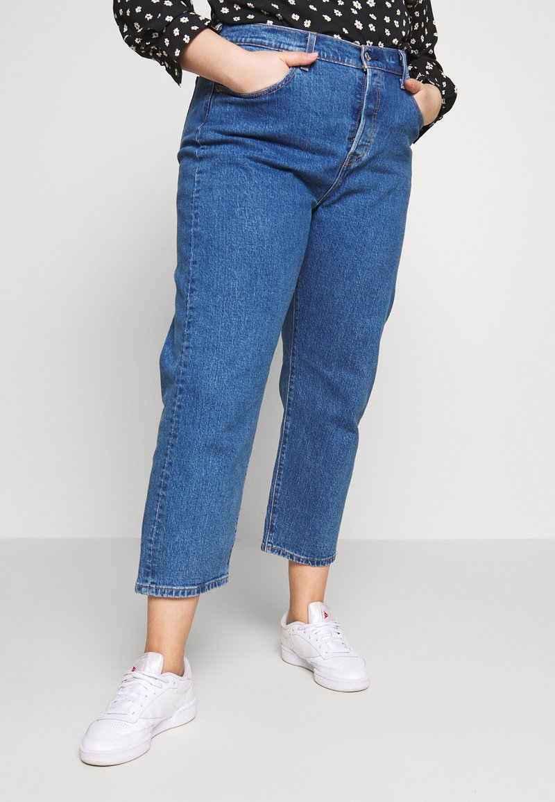 Levi's® Plus - PL 501® CROP - Jeans straight leg - jive stonewash