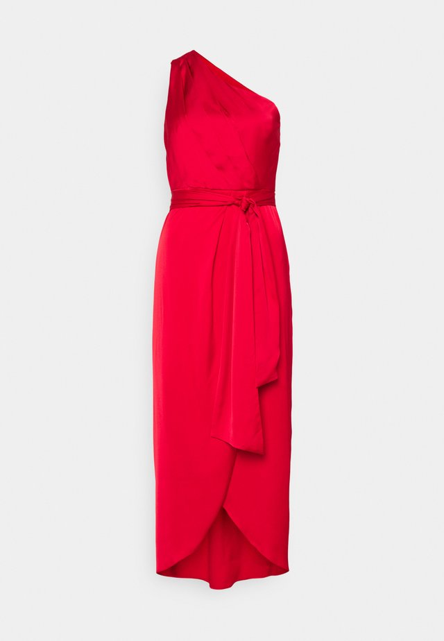 ONE SHOULDER - Vestito elegante - red