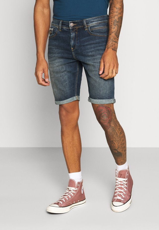 LANCE - Denim shorts - moe wash