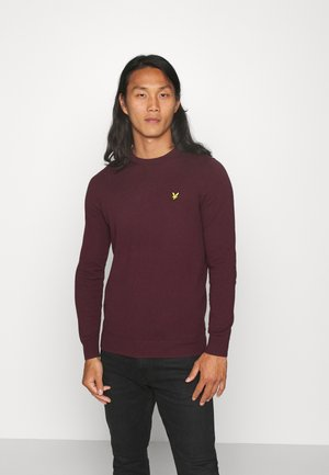 Crew Neck Jumper - Jumper - burgundy