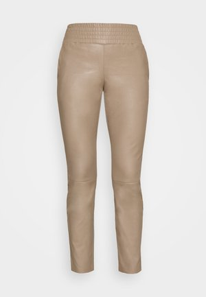 COLETTE - Leather trousers - taupe