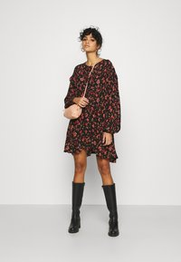 Free People - FLOWER FIELDS MINI - Day dress - dark combo - 1