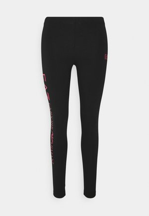 Leggings - Trousers - black/rose red