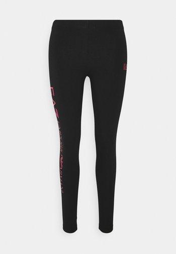 Leggings - black/rose red