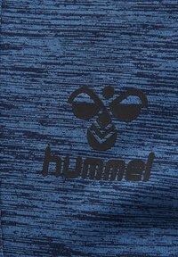 Hummel - ASTON - Bluza rozpinana - black iris melange - 3