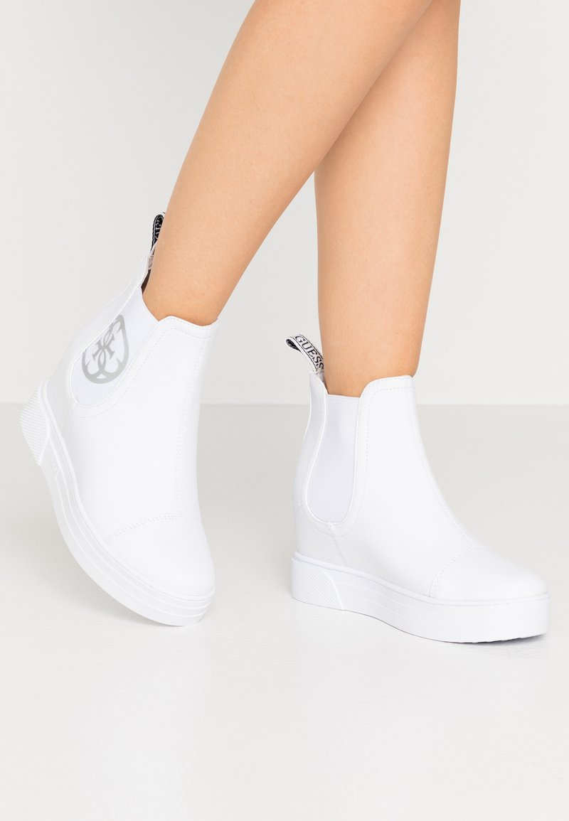 Guess - FRENZE - Wedge Ankle Boots - white