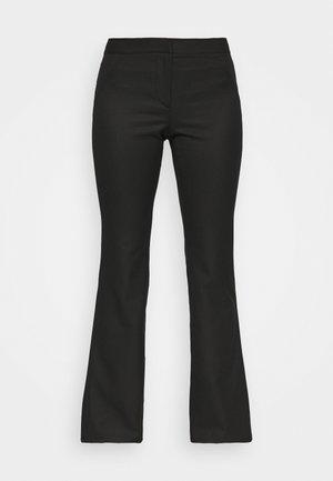 RITZA SKINNY FLARED TROUSER - Kalhoty - black