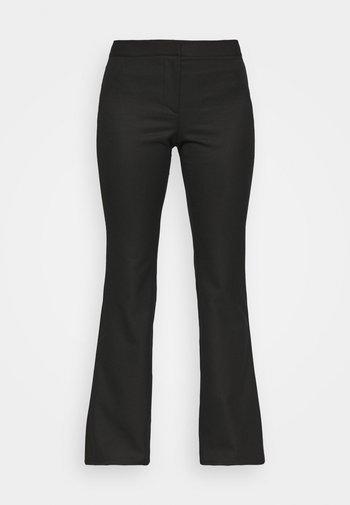 RITZA SKINNY FLARED TROUSER - Trousers - black