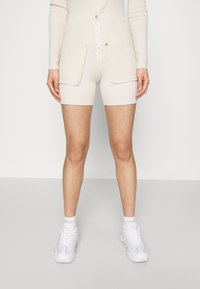 Missguided - LONGLINE CARDIGAN AND BUTTON CYCLING SET - Cardigan - cream - 0