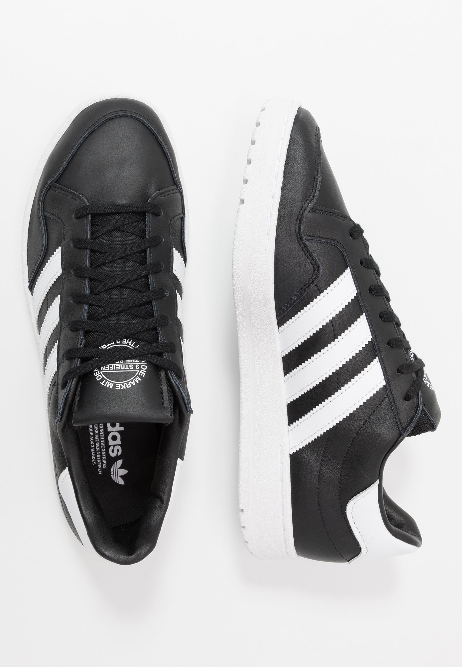 adidas Originals TEAM COURT Joggesko core blackfootwear