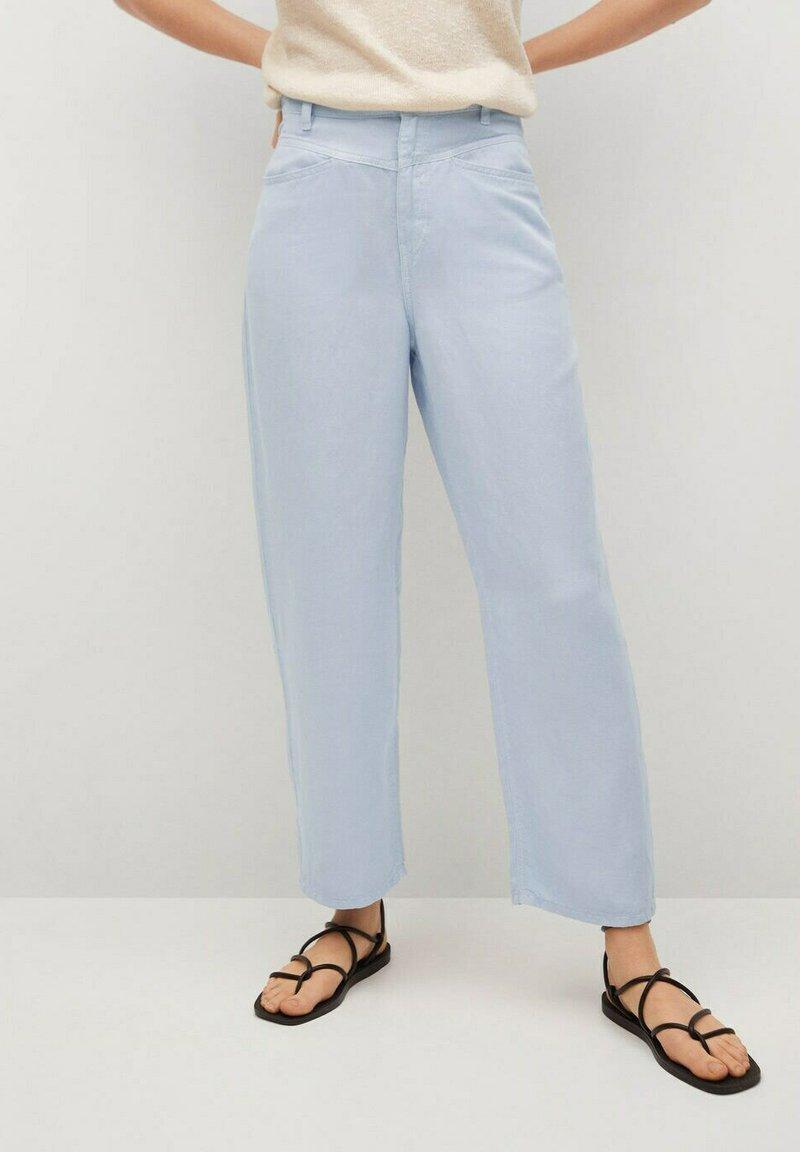 Mango - Trousers - sky blue
