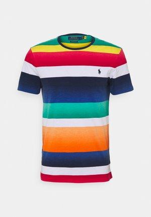 CUSTOM SLIM FIT STRIPED CREWNECK T-SHIRT - T-shirt print - spectrum orange multi