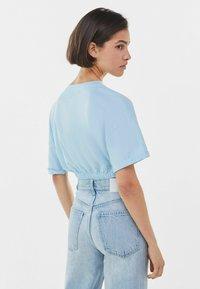 Bershka - Print T-shirt - blue - 2