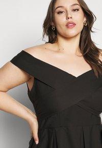 Chi Chi London Curvy - CURVE SEVDA DRESS - Cocktail dress / Party dress - black - 4