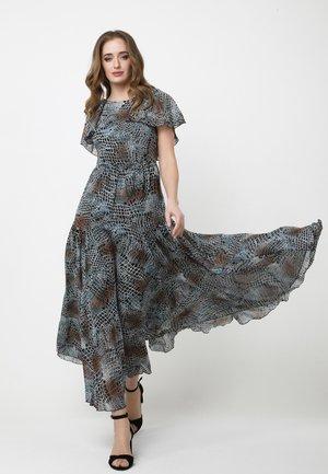 ELIZABETTA - Maxi-jurk - schwarz, hellblau