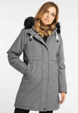 Winter coat - mottled grey
