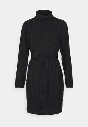VIELITA HIGH NECK DRESS - Svetríkové šaty - black