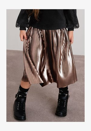 Pleated skirt - bronze