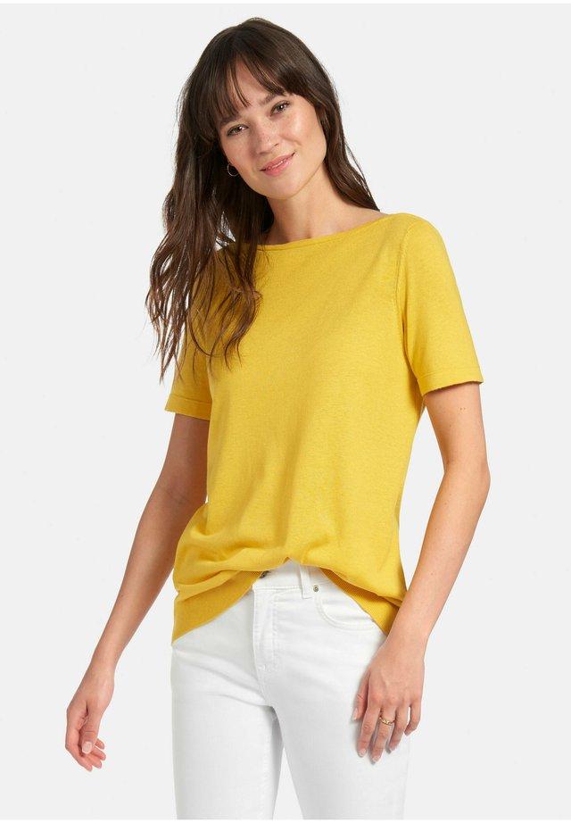 KURZARMPULLOVER SHIRT-PULLOVER MIT 1/2-ARM - Sweater - gelb