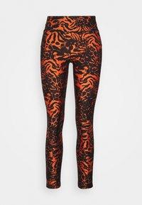 FUSION METALLIC 7/8 - Leggings - fusion orange