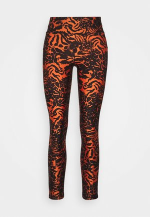 FUSION METALLIC 7/8 - Tights - fusion orange