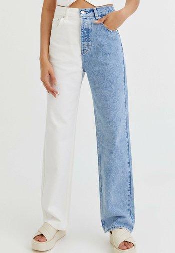 COLOUR-BLOCK - Jeans straight leg - light blue