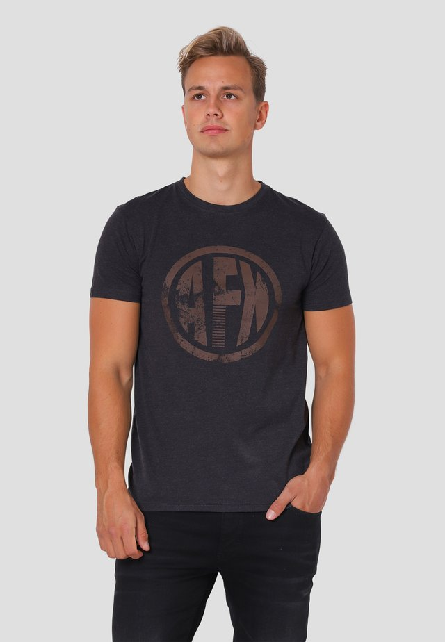 VANCE  - T-shirt print - dk.grey mix