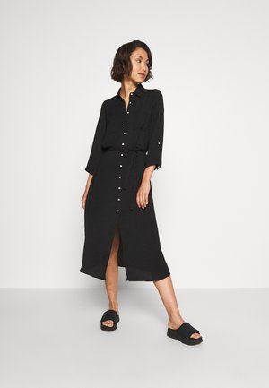 ONLISABELLA ABOVE CALF DRESS - Shirt dress - black