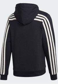 adidas Performance - WINTER 3-STRIPES FULL-ZIP HOODIE - Zip-up hoodie - black - 10