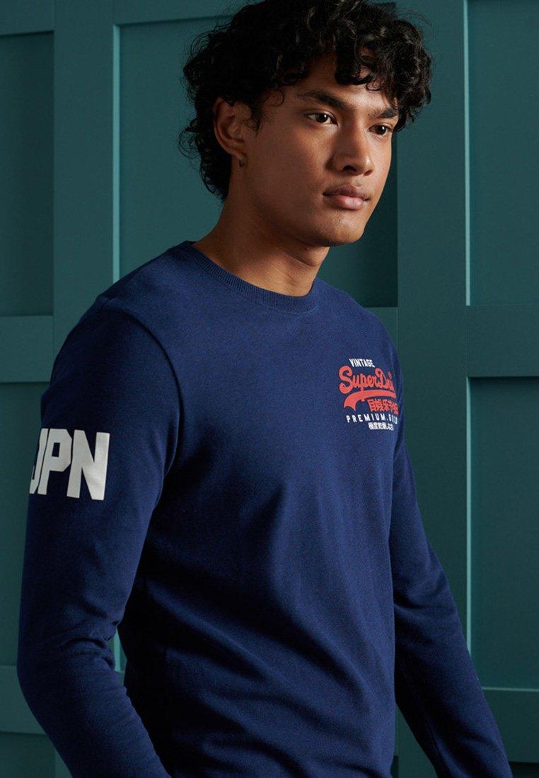 Superdry Langarmshirt - midnight blue grit/blau - Herrenbekleidung FMWuP