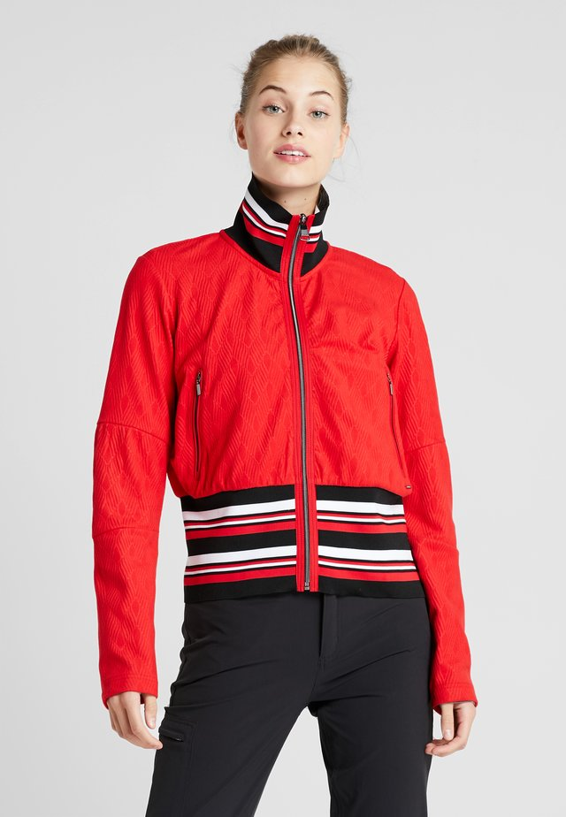 HAMARI - veste en sweat zippée - classic red