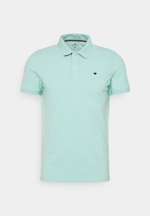 BASIC WITH CONTRAST - Polo shirt - lucite green white melange