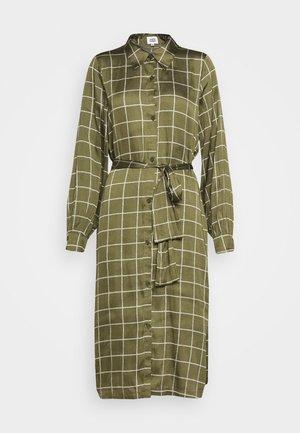 LISA DRESS - Košilové šaty - greyish green