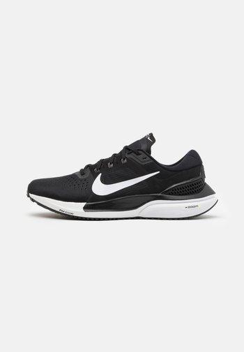 AIR ZOOM VOMERO 15 - Neutral running shoes - black/white/anthracite/volt