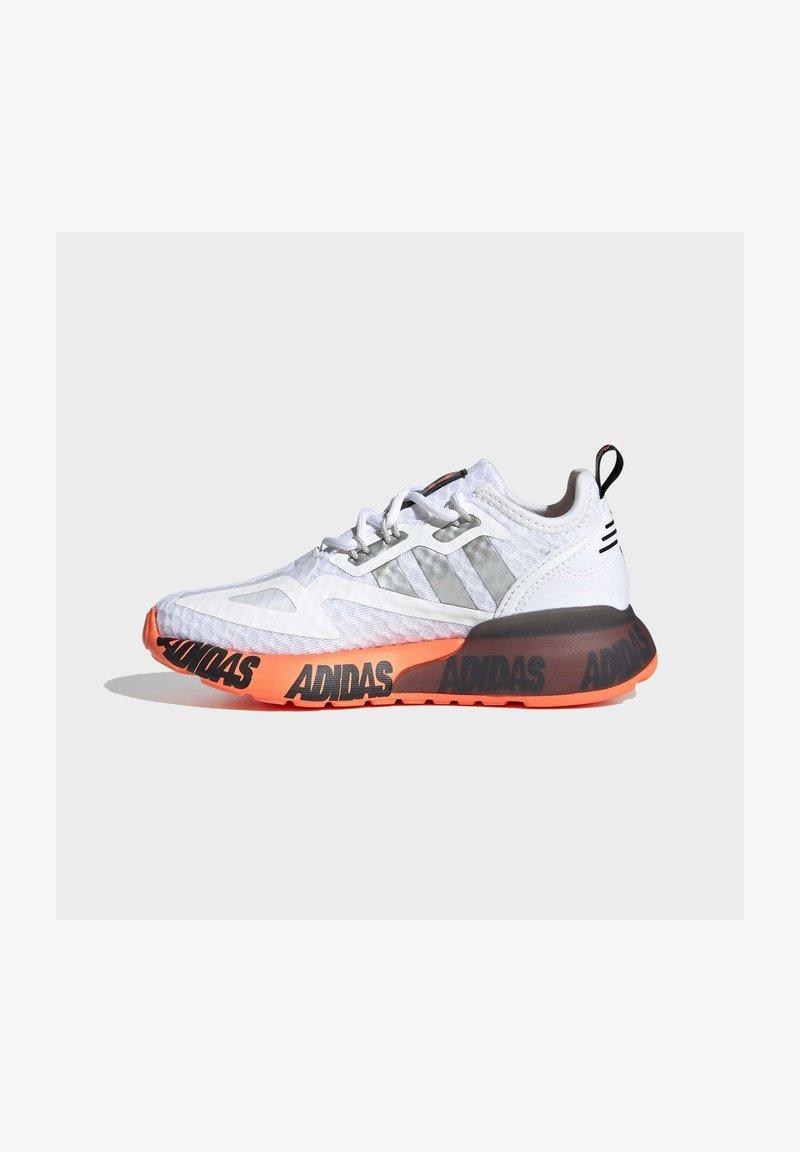 adidas Originals - ZX 2K UNISEX - Matalavartiset tennarit - ftwr white/silver met./core black