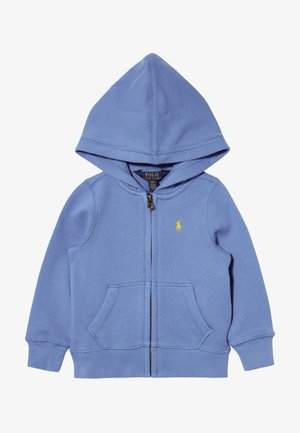 HOODIE - veste en sweat zippée - harbor island blue/signal yellow