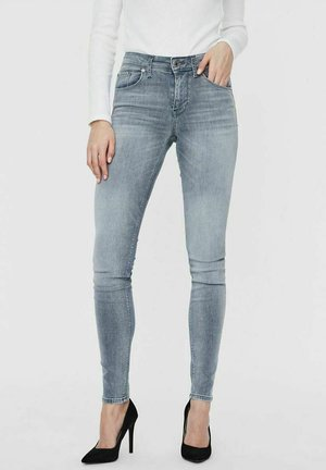 SLIM FIT VMLUX - Slim fit jeans - light grey denim