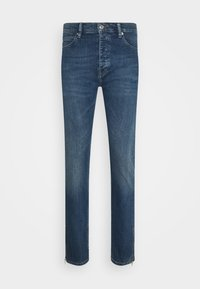 WITH ZIPPER DETAIL ON THE BOTTOM - Jeansy Slim Fit - blue
