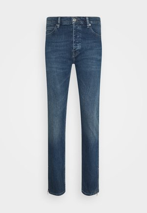 WITH ZIPPER DETAIL ON THE BOTTOM - Slim fit jeans - blue