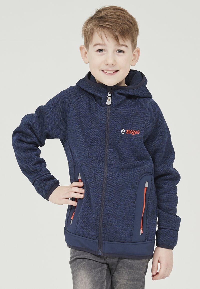 ZIGZAG - Zip-up hoodie - 2048 navy blazer