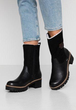Classic ankle boots - schwarz/kastanie
