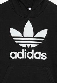 adidas Originals - TREFOIL HOODIE UNISEX - Bluza z kapturem - black/white - 4