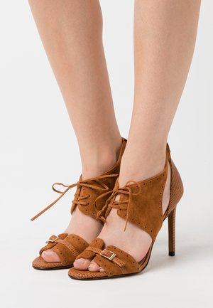 FRANCINE - High heeled sandals - marrone