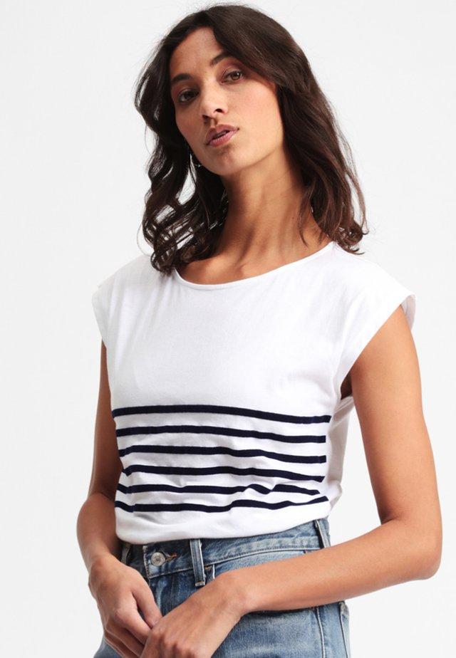 MOLONA - Print T-shirt - white