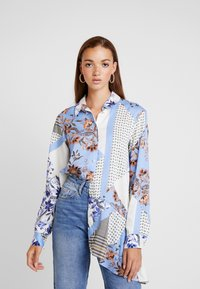 River Island - Button-down blouse - blue - 0